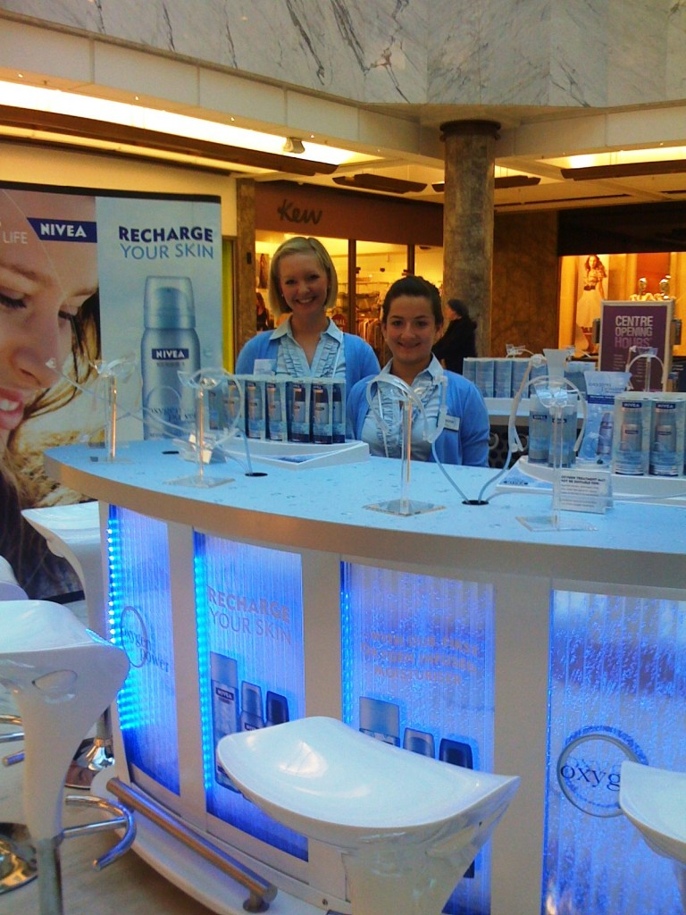 Nivea Product launch using our Oxygen Bars